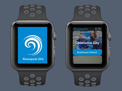 Riversport OKC - Apple Watch App ui ux app apple watch