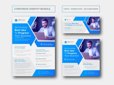 Corporate business brand identity design stationery media template graphic banner design social media banners banner ad corporate a4 print-ready corporate brand identity corporate branding corporate flyer corporate identity business flyer design corporate flyer design vector best corporate flyer design corporate flyer size
