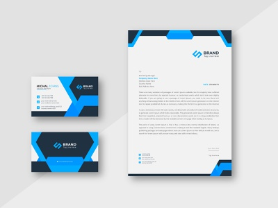 Letterhead Design Corporate Identity Template with business card design branding vector logo cv envelope corporate identity stationary business card brand identity letterhead visiting card business card template invoice business professional creative