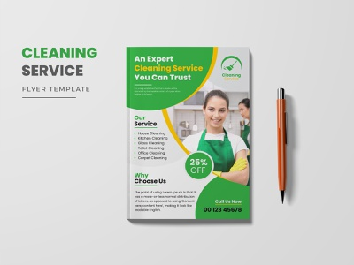 Cleaning Services Flyer Template professional cleaning service