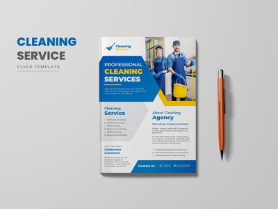 Cleaning Services Flyer Template housekeeping
