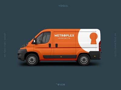 Metroplex – Locksmith Brand blue key identity brand design locksmith metroplex orange