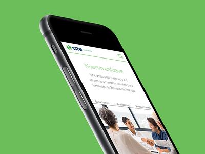 Cite Recruiting Website mobile web mexico design identity responsive blue green website