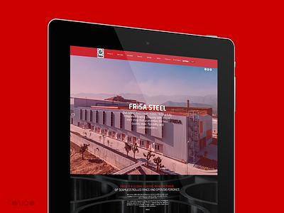 Frisa Website branding identity brand digital forging steel responsive red design frisa web