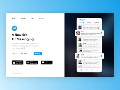 Telegram Web Redesign ui light dark inspirational website web app redesign telegram branding chat app creative zoho typography logo design