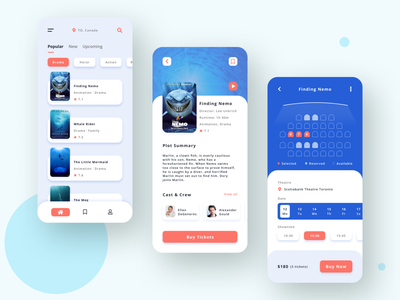 FindFlick design mobile app design flat clear clean interaction ux ui movie moviesapp movies