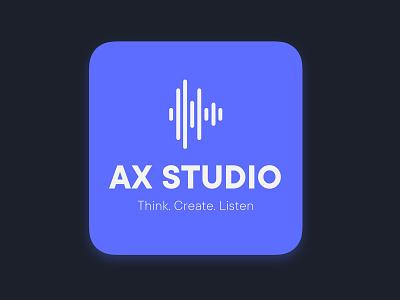 AX STUDIO – A concept for auditory interaction design logo app icon sounddesign ui sound