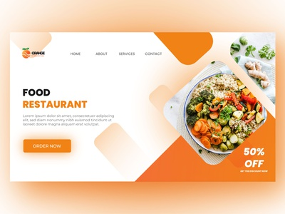 Food UI Design 01 website design productdesign webdesign landingpage illustration design uidesign