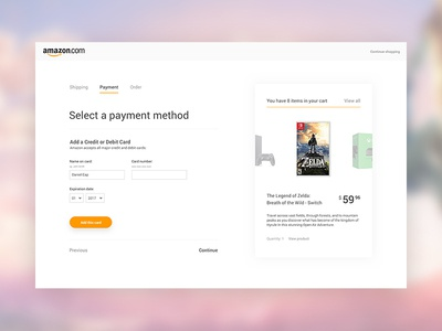 Daily UI 002 design checkout ui amazon web daily