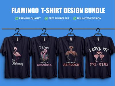 New Flamingo  T-Shirt Design Bundle