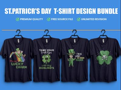 ST.PATRICR'S DAY  T-Shirt Design Bundle