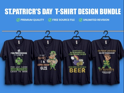 ST.PATRICR'S DAY  T-Shirt Design Bundle​​​​​​​