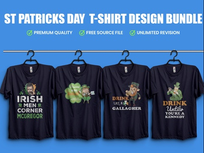 St. patricks day  T-Shirt Design Bundle​​​​​​​