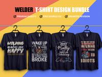 Welder  T- Shirt Design Bundle - Hello Dribbble
