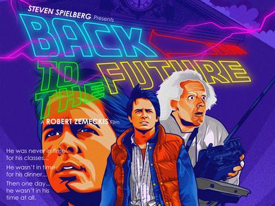 Back To The Future illustration nostalgic nostalgia retro doc brown marty mcfly mcfly backtothefuture