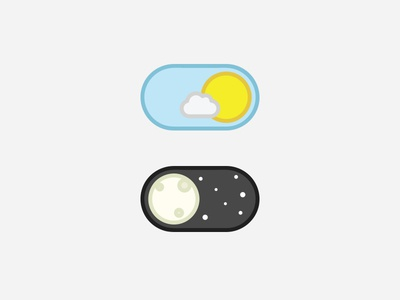 Day-Night Toggle Button day night ios sun moon design ux vector ui illustration app button