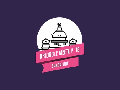 Bangalore Dribbble Meetup bangalore badge illustrations zeta purple colors vector ux ui design dribbble meetup