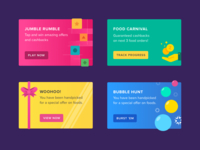 Challenges - Inbox Cards fun cash money games colors design android cards ux ui