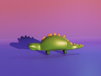 3d Dinossaur - Modelling/Sculpting 3d cycles octanerender octane blendercycles pink orange violet green color colors 3d art cinema 4d maya blender 3d dinossaur dino illustration cinema4d blender3d blender