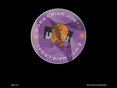 Sticker for Gruta ui typography vector art illustration logo design branding