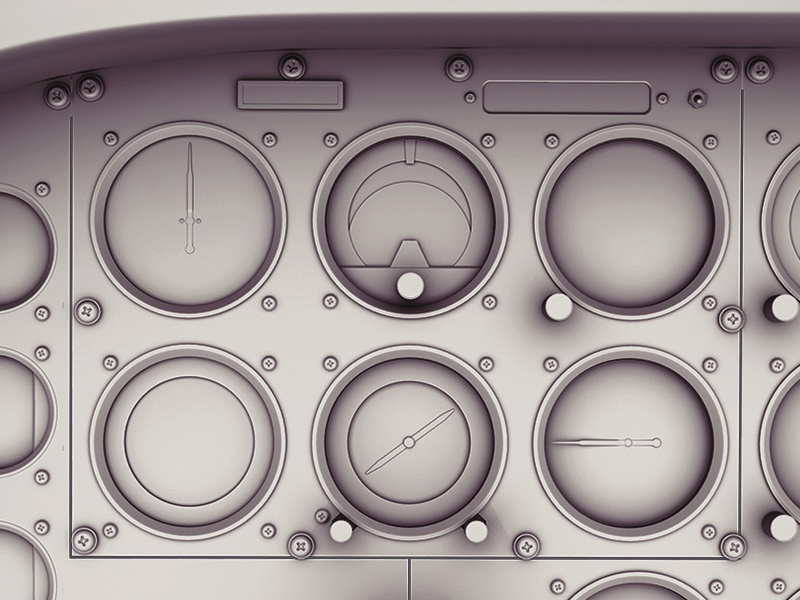 Cessna 175 Instrument Panel by Polymorph on Dribbble