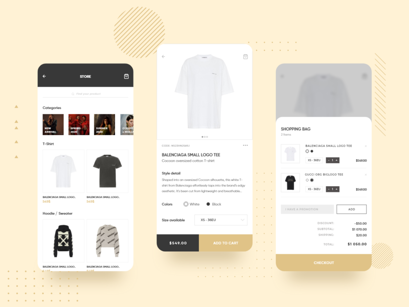 Clothes Store Product Page fashion clothes ecommerce design uiux ui likeforlike