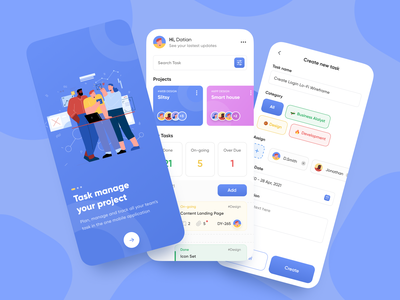 Task Manage Your Project task management management app manage task minimal mobile app branding trend illustration dribbble concept uiux design ui