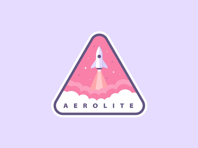 Rocketship Logo rocketship logo rocket logo logodesign dailylogochallenge badgedesign badge rocketship rocket logotype logo