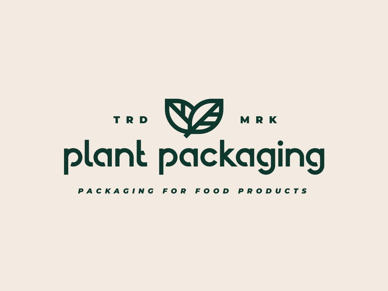 Plant Packaging minimalist logo minimal branding leaves logo leaves symbol wordmark logo wordmark typography type logotype logo