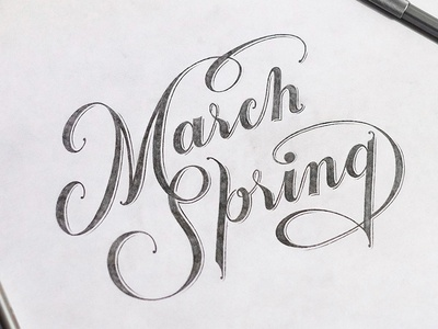 March. Spring
