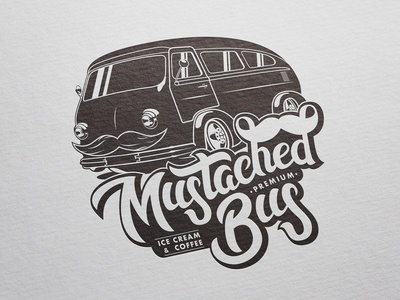 Logo & Illustration for Mustached Bus