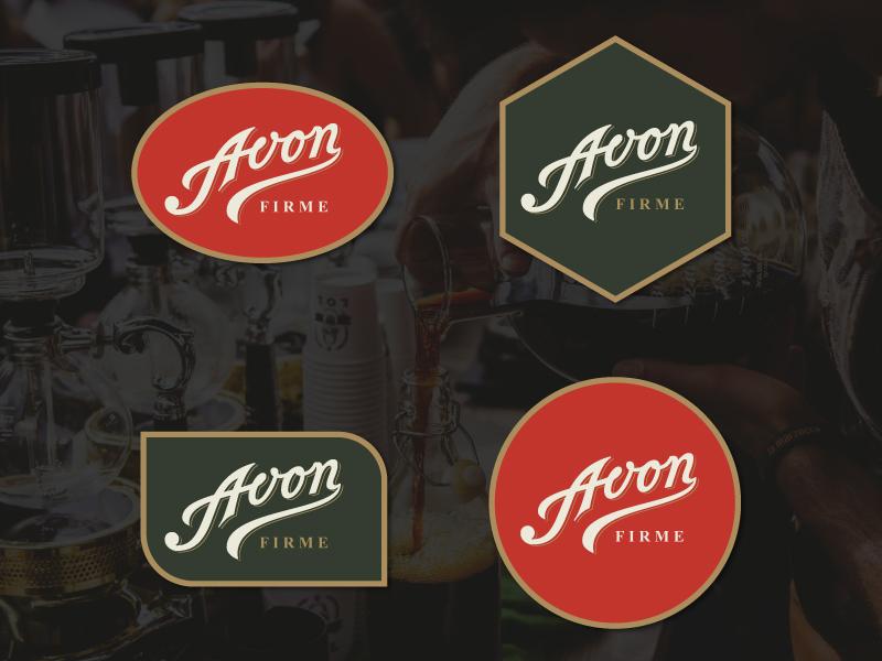 Avon Logotype oldschool lettering handlettering logotype logo classic logodesign