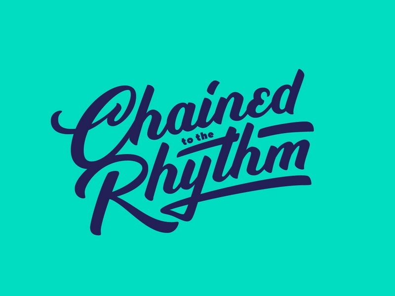 Chained to the Rhythm | Lettering logotype script леттеринг handlettering typography type logo lettering design
