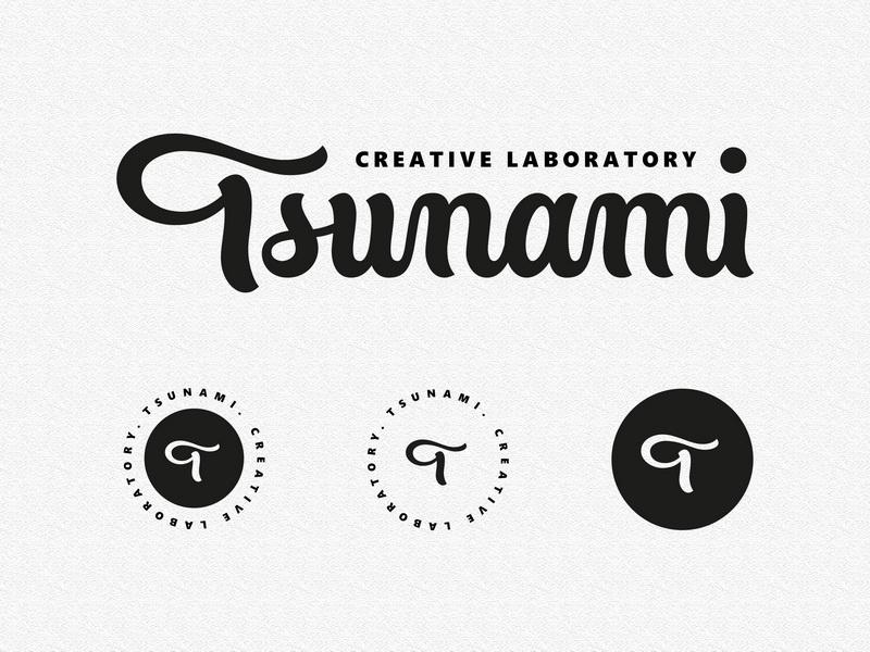 Tsunami script typography type лого леттеринг logodesign logotype handlettering logo lettering