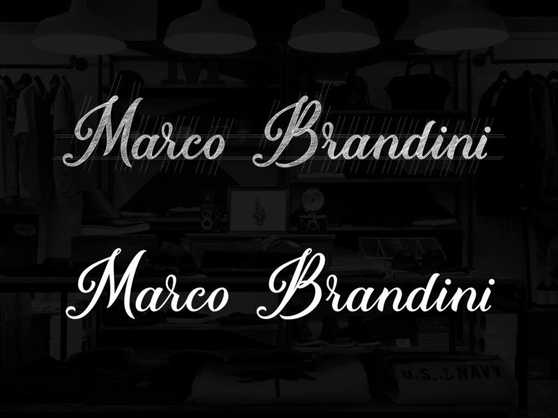 Marco Brandini typedesign handtype лого sketch logodesign script леттеринг handlettering typography type handmadefont logotype logo lettering