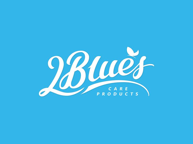 2Blues Lettering Logo vector typedesign handtype лого script леттеринг logodesign logotype handlettering typography type logo lettering
