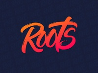 Lettering Logo for ROOTS