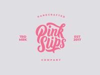 Pink Slips Lettering Logo