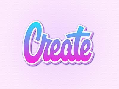 "Lettering Logotype ""Create"""