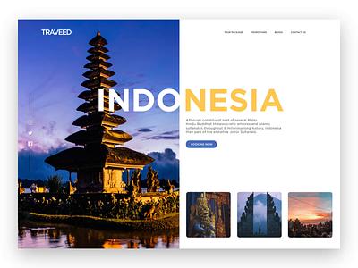 Indonesia Travel travel layout travel idea indonesia travel landing page travel design travel blog travel website travel traveling
