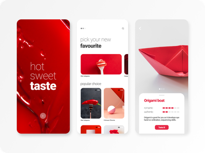 Pick your taste..! hot taste red mobile concept red layout hot crimson red ideas redesign concept red