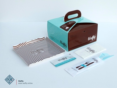 Waffly Printed Items graphic  design packaging branding