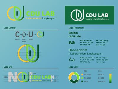 CDU LAB Logo logotype graphicdesign professional professional logo indonesia designer environment  green green logo green leaf laboratory health environment simplelogo number minimalist branding design company logo