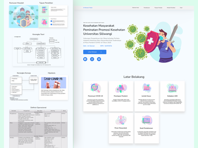 Thesis Presentation Website company vector ui graphicdesign