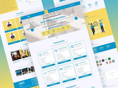 Japri Corp Company Profile userexperience userinterfacce uxdesigner developer software companyprofile uidesigner materialui react frontend uiux illustration minimalist branding design company ui