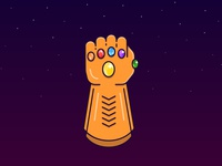 Infinity Gauntlet flat design app icon stars purple power comics simple illustration marvel thanos glove diamonds infinity gauntlet illustration avengers