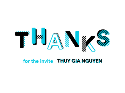 Thanks! thank you patterns typography invite