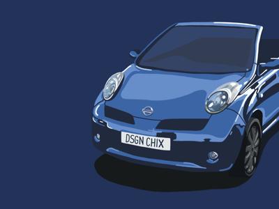 Nissan Micra Cabriolet workinprogress procreate illustration nissan car