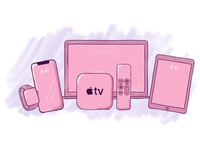 Pink Apple Devices