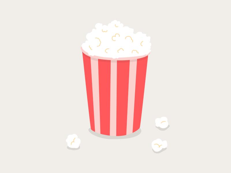 Popcorn movie illustration popcorn